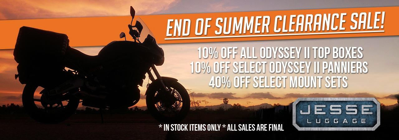 Adventure Motorcycle Luggage, Jesse Luggage, End of Summer Sale