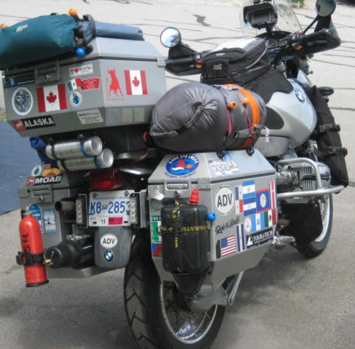 ODYSSEY II panniers and top box fitted to BMW R1150GS Adventure