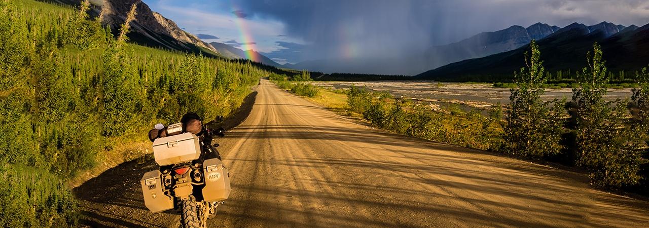 Adventure Motorcycle Luggage, Jesse Luggage, Open Road