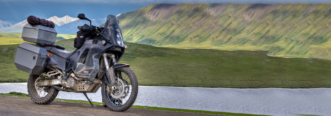 Adventure Motorcycle Luggage, Jesse Luggage, Mountain Range